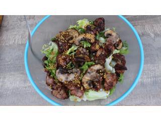 Теплый салат с печенью и грибами на гриле. Рецепт теплого салата