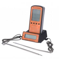 Профессиональный цифровой двухзонный беспроводной термометр для мяса GRILLI 062-DTH-106 77786