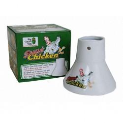 Подставка для курицы керамическая с емкостью для соуса Big Green Egg SC