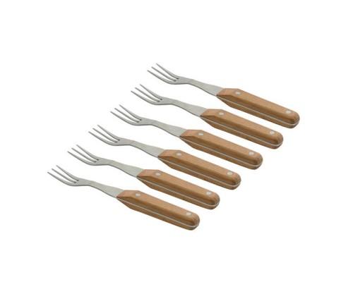 Набор вилок для стейка, 6 шт, з деревяной ручкой, 22 см BergHoff 4490308