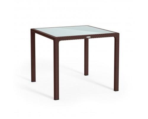 Стол пластиковый 90*90 мокко с серой