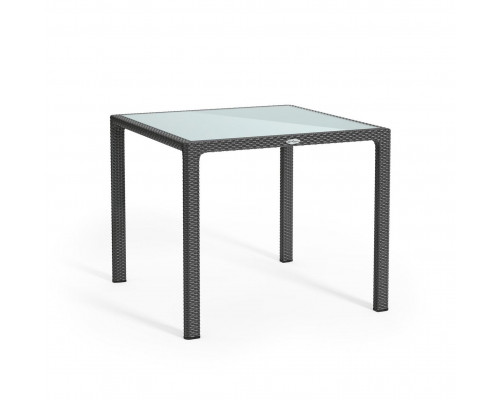 Стол из ротанга 90*90 серый Lechuza 10913