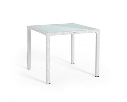 Стол пластиковый 90*90 белый Lechuza