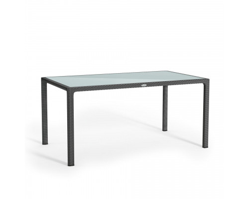 Стол из ротанга 160*90 серый Lechuza 10933