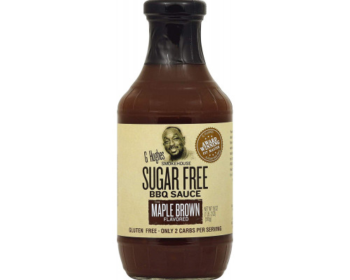 Барбекю соус G Hughes Smokehouse Sugar Free BBQ Sauce 500мл Maple Brown(клен)