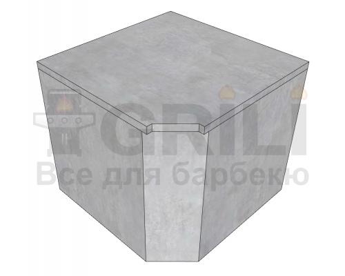 Бетонный кухонный угловой модуль закрытого типа