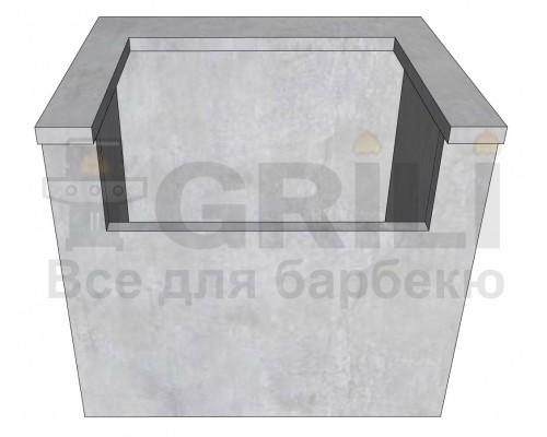 Бетонный кухонный модуль под газовый гриль закрытого типу