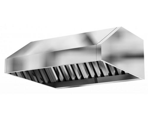 Зонт вытяжной вентиляционный с фильтрами лабиринтного типа 2300 х1000 х 350 (цельно сварная конструкция)