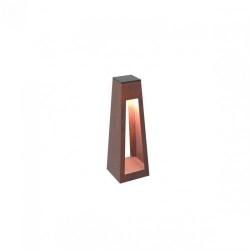 Фонарь тумба с внешнем освещением Quan, низька, коричневый QN94398