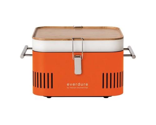 Переносной угольный гриль Everdure Cube, оранжевый