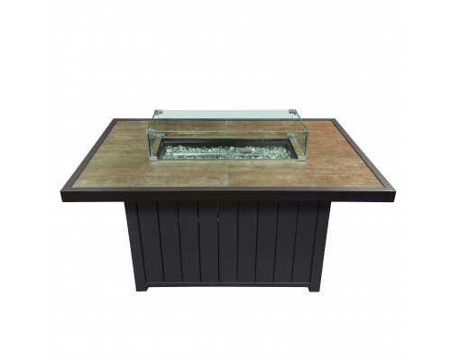 Уличный газовый стол-камин 130х85х63см керамическая столешница 777006