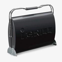 Портативный угольный гриль I-GRILL O-GRILL черный