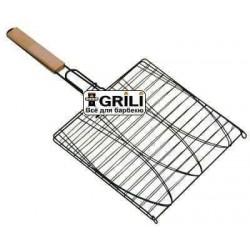 Тройная антипригарная сетка для рыбы GrillPro 24014