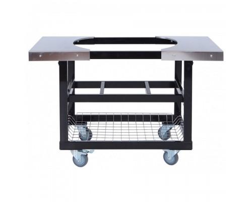 Металлический стол-тележка для гриля