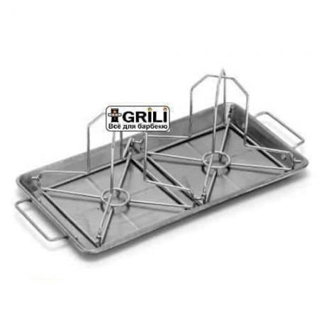 Стойка с поддоном для 2 куриц Grill Pro 41442