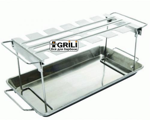 Стойка для куриных ножек с поддоном GrillPro 41552