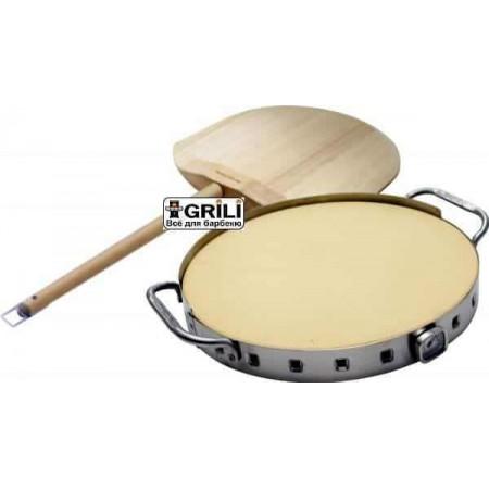 Набор для пиццы керам. камень, лопатка, форма Broil King 69816 (69815)