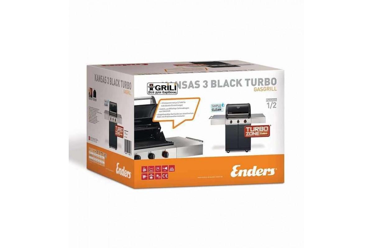 Enders Gasgrill Kansas 3 : Газовый гриль kansas black i turbo enders