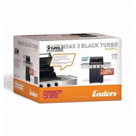 Газовый гриль Kansas 3 Black I Turbo Enders 8730