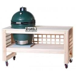 Решётчатый стол с колёсами для Big Green Egg (L) L5TAB4