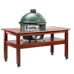 Длинный стол для L (Махагон) Big Green Egg TML