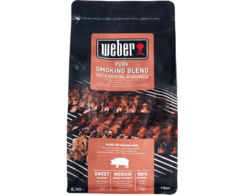 Древесные чипсы для копчения к свинине Weber 17664