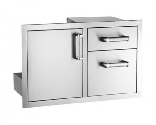 Встраиваемый элемент с дверкой и выдвижными ящиками FireMagic 53810-SC