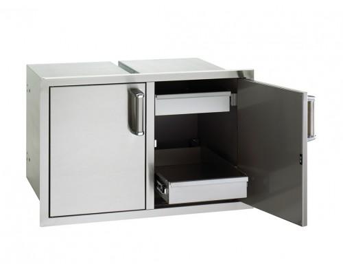 Встраиваемая двойная дверка с выдвижными ящиками FireMagic 53930SC-22