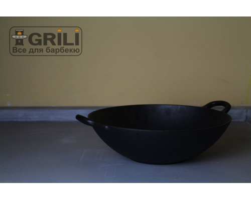 Чугунная сковорода вок GRILLI