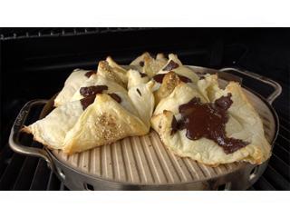 Десерт слоеный с шоколадом на гриле Рецепты для гриля