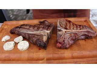 Сковорода-гриль против газового гриля, готовим говяжьи стейки и куриное филе